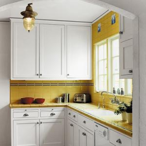 Small Kitchen Yellow Design